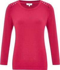 Cc Pleat Detail Jumper Berry