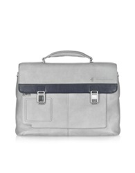 Piquadro Vibe Front Pocket Laptop And I Pad Briefcase Grey
