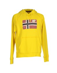 Napapijri Topwear Sweatshirts Men Yellow