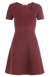 Alexander Wang T By Dress With Banded Waist Red