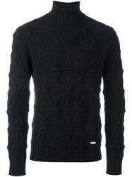 Dsquared2 Japanese Star Turtleneck Jumper Black