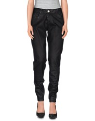 Twin Set Simona Barbieri Denim Denim Trousers Women Black