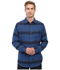 Marmot Enfield Flannel Long Sleeve Shirt Vintange Navy Heather Men's Clothing Blue