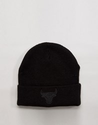 Mitchell And Ness Beanie Chicago Bulls In Waffle Knit Black