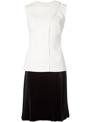 Cedric Charlier Cedric Charlier Pleated Dress White