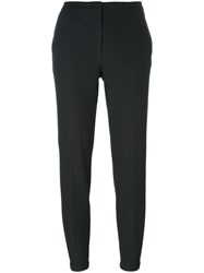 Fabiana Filippi Slim Fit Cropped Trousers Black