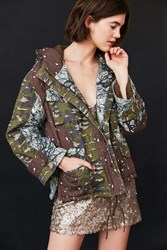 Bdg Jigsaw Patchwork Camo Utility Jacket Green Multi
