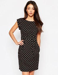 Emily And Fin Emily And Fin Sophie Dress In Polka Dot Print Black