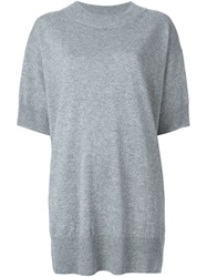 Mm6 Maison Margiela Short Boxy Sweater Dress Grey