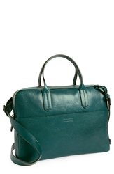 Ben Minkoff 'Fulton' Leather Briefcase Deep Sea