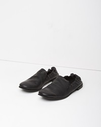 Y's Leather Slip On Black