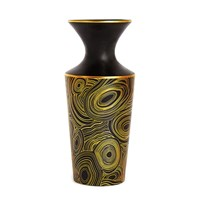 Jonathan Adler Futura Vase Malachite Black And Gold