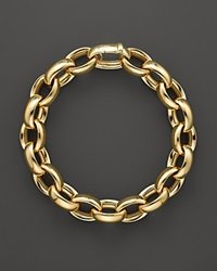 Roberto Coin 18K Yellow Gold Rounded Oval Link Bracelet Bloomingdale's Exclusive
