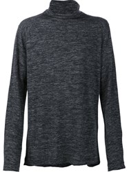 Transit Roll Neck Fine Knit Jumper Black