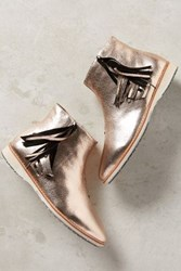 Anthropologie Rollie Nation Madison Ankle Booties Gold