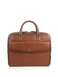 Montblanc Italian Leather Briefcase Brown