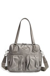 M Z Wallace Mz 'Small Roxy' Bedford Nylon Shoulder Bag Metallic Platinum