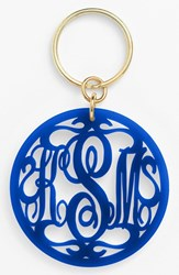 Women's Moon And Lola Personalized Monogram Key Chain Blue Cobalt