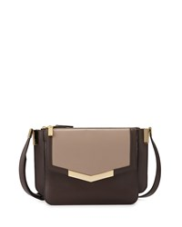 Time's Arrow Mini Trilogy Leather Crossbody Bag Taupe Oyster Cacao