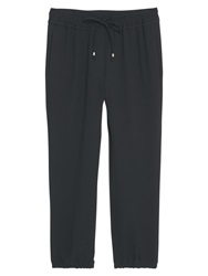 Mango Drawstring Baggy Trousers Black