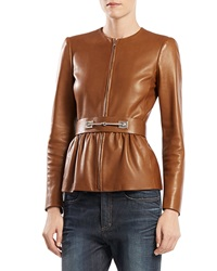 Gucci Belted Leather Jacket