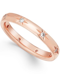 Star By Marchesa Diamond Band In 18K Rose Gold 1 8 Ct T.W.