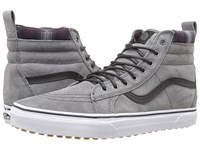Vans Sk8 Hi Mte Mte Pewter Plaid Skate Shoes Gray