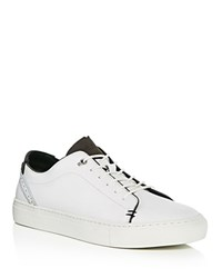 Ted Baker Kiing Leather Brogue Lace Up Sneakers White