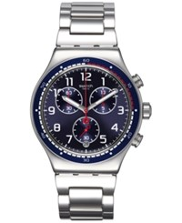 Women's Swiss Chronograph Swatchour Stainless Steel Bracelet Watch 43Mm Yvs426g Silver