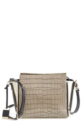 Cxl By Christian Lacroix 'Avery' Croc Embossed Leather Crossbody Bag