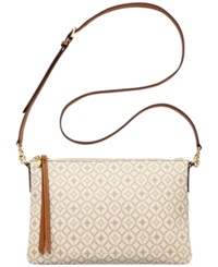 Fossil Sydney Top Zip Shoulder Bag Bone