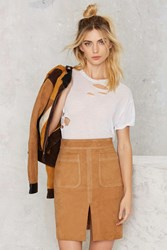 Nasty Gal Dreaming From The Waist Suede Skirt