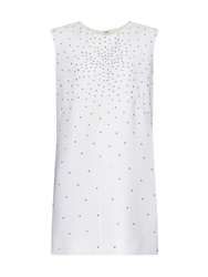 Saint Laurent Crystal Embellished Dress
