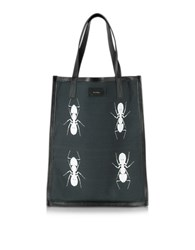 Paul Smith Men's Black And White Ants Print Tote Bag