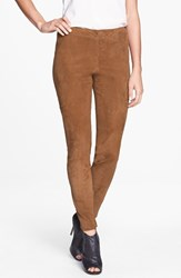 Lafayette 148 New York Women's 'Magic Stretch' Suede Skinny Pants