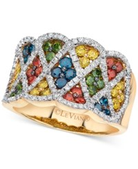 Le Vian Exotics Multi Colored Diamond Ring 1 3 8 Ct. T.W. In 14K Gold