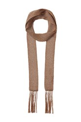 Missoni Skinny Scarf With Fringe Gold