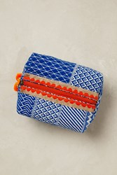 Anthropologie Kerala Cosmetic Pouch Sky