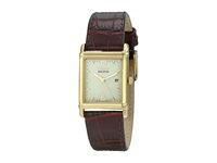 Citizen Bw0072 07P Eco Drive Leather Watch Brown Band Gold Case White Dial Watches