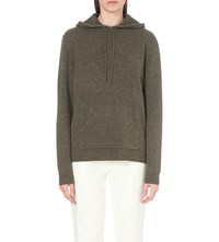 Dion Lee Cutout Cashmere Hoody Army