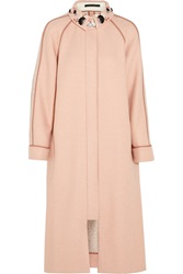 Mother Of Pearl Madison Embellished Houndstooth Wool Coat Pink