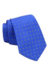 Gitman Brothers Vintage Men's Geometric Woven Silk Tie Royal Blue