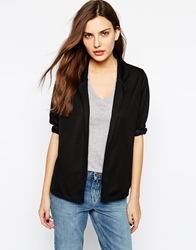 Club L Relaxed Blazer In Crepe Black