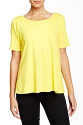 Joan Vass Short Sleeve Trapeze Tee Yellow