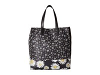 Marc Jacobs Byot Mixed Daisy Flower North South Tote Black Multi