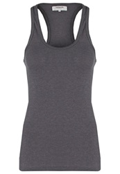 Zalando Essentials Top Dark Grey Mottled Dark Grey