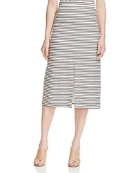 Alice Olivia Alice And Olivia Sabrena Stripe Midi Skirt Cream Black