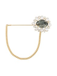 Dolce And Gabbana Crystal Flower Brooch