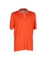 Ice Iceberg Topwear Polo Shirts Men Orange