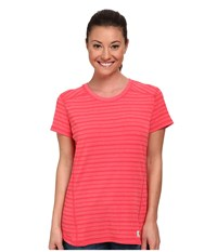 Carhartt Force T Shirt Geranium Coral Heather Stripe Women's T Shirt Pink